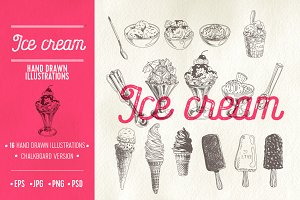 Ice Cream sketch illustrations