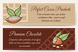 Chocolate and cocoa banner templates