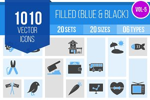 1010 Filled Blue & Black Icons (V5)
