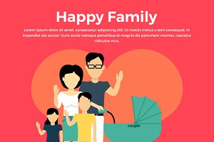 Happy Family Concept