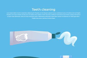 Teeth Cleaning Concept Design Banner