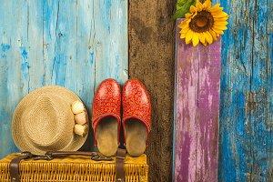Holidays summer vacations girl card