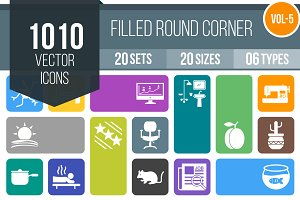 1010 Filled Round Corner Icons (V5)