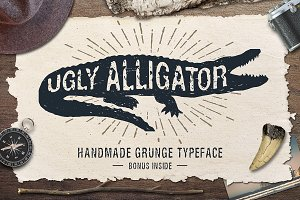 Ugly Alligator - Grunge Typeface