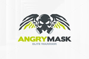 Angry Mask Logo Template