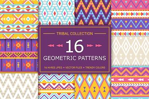 16 Geometric Seamless Patterns