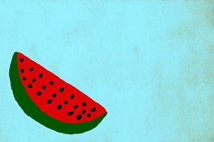 Funny drawing of a watermelon