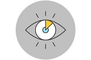 Vision concept line icon