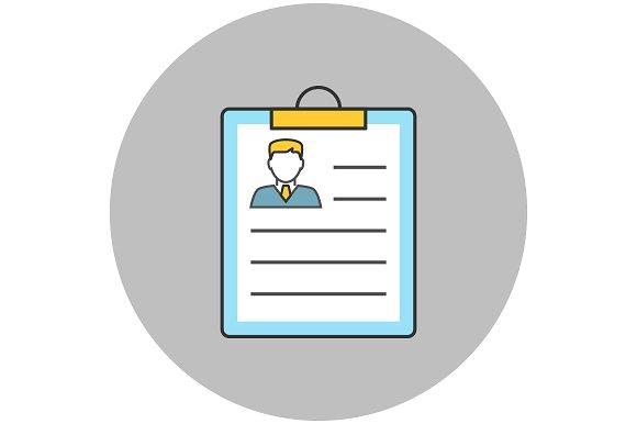 resume concept line icon icons creative market - Resume Icon