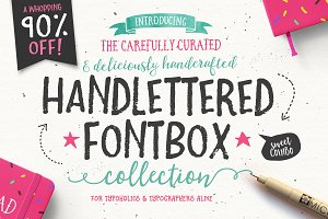 90% OFF- The Handlettered Fontbox