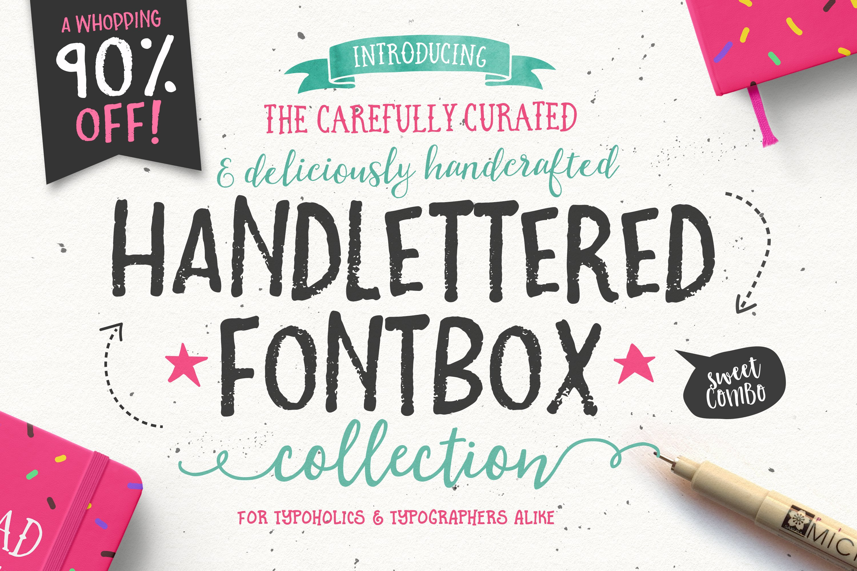 933d2b3c5 90% OFF- The Handlettered Fontbox ~ Fonts ~ Creative Market