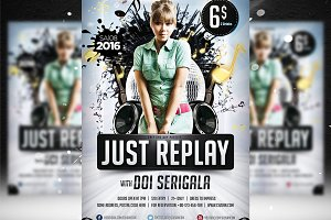 Just Replay Flyer Template