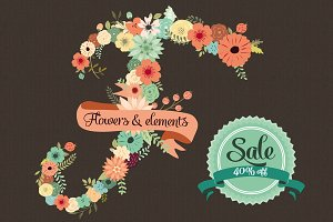 40 % off: Flowers & Floral Elements