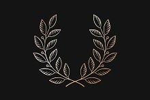 Laurel wreath on black