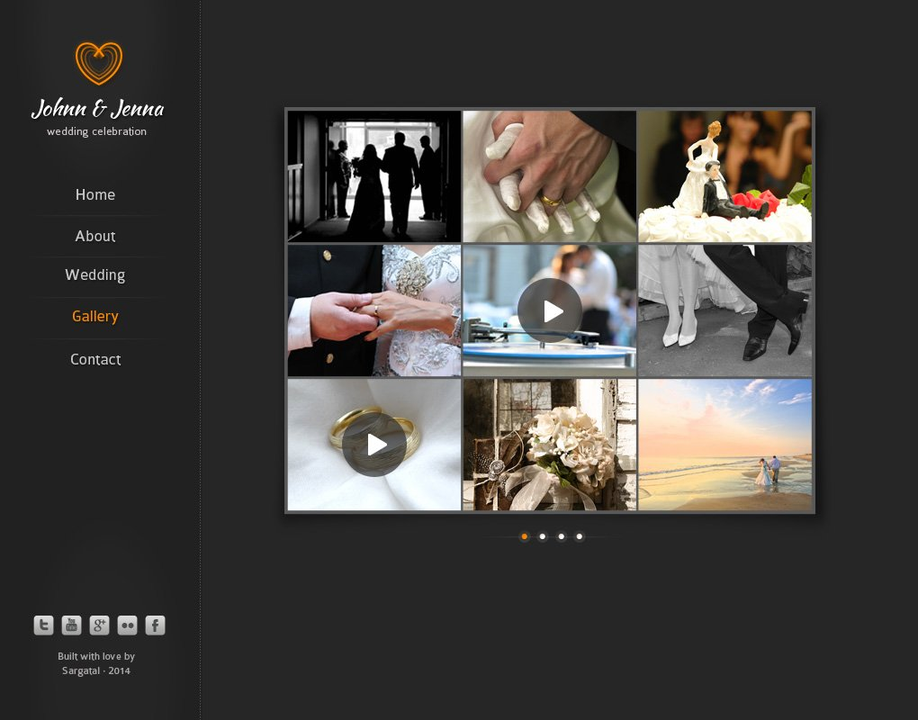 Modern Wedding - Black Version ~ Website Templates ~ Creative Market
