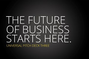 Universal Pitch Deck Three Keynote