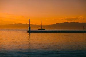 Pier on the Aegean Sea in Thassos
