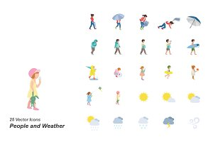 People and Weather color icons