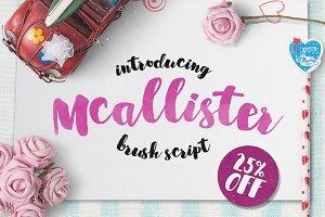 25% OFF - Mcallister Brush Script