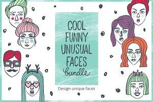 Doodle face bundle. Constructor