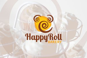 HappyRoll Bakery Logo