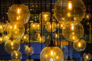 Gold lighting decoration