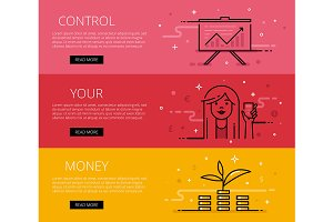 Control Your Money.  Web banners