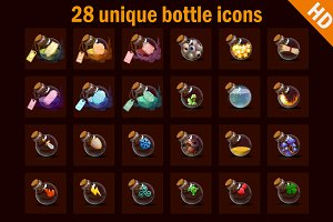 Magic bottles icons