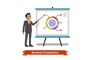 Business man mentor presentation