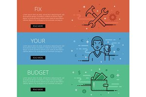 Fix Your Budget. Web banners