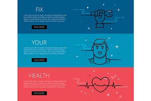Fix Your Health. Web banners