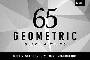 Polygon Geometric Black & White 65