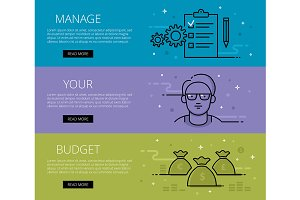 Manage Your Budget. Web banners