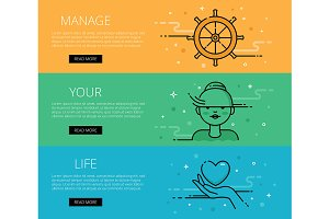 Manage Your Life. Web banners