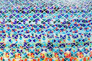 Mosaic tiles floor