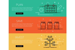 Plan. Save. Invest. Web banners