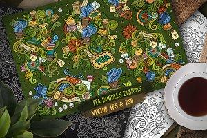 Tea Doodles Designs Set 1