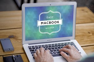Mockup Macbook Air 3