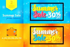 Summer Sale -30% Off Promo Banners