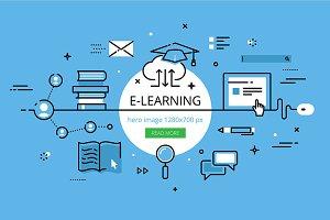 E-learning hero banner set