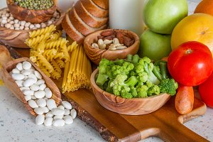 Selection of nutrients for vegetarian diet