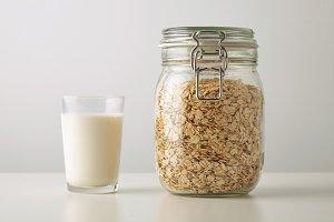 Muesli with rolling oats set