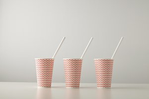 Paper take away cups mockup set