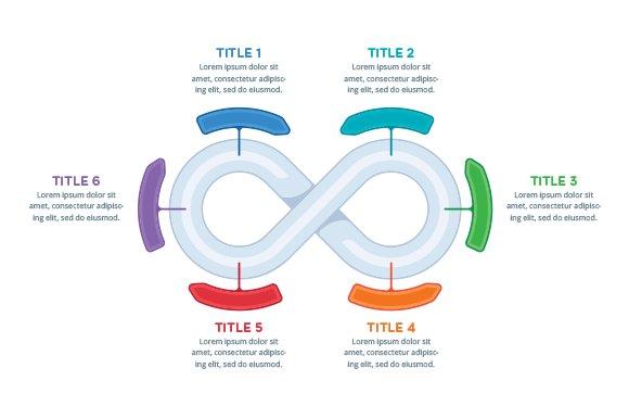 Infinity infographics element