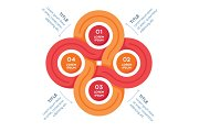 Circles infographics element