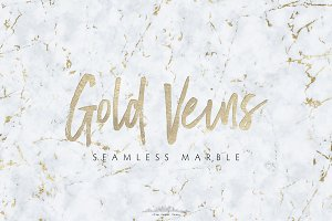 Seamless Marble Textures Gold Veins