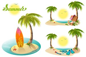 Beach holidays on summer vacations