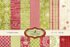 Holiday & Cheer Digital Paper Pack