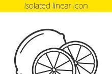 Lemon linear icon. Vector