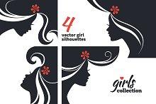 Vector Girl Silhouettes